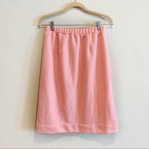 Vintage Graff Bubblegum Pink Textured Pencil Skirt